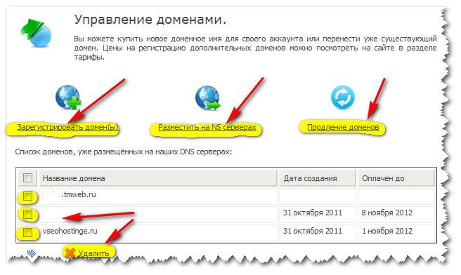 TimeWeb. Управление доменами