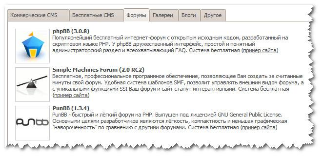 TimeWeb. CMS форумов
