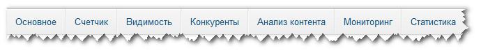 Меню анализа сайтов PR-CY.ru