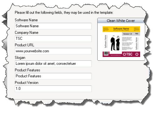 TB Cover Editor — форма ввода персональных данных