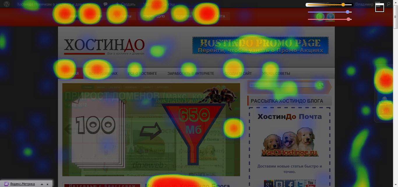 Карта кликов Яндекс Метрики